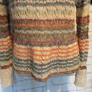 Free People Sweaters - Free People Loose Knit Soft Striped Sweater S